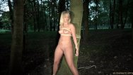Shaved slave mouth o ring Slave suffers bondage pain rough fuck mouth use humiliation in the woods