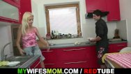 I see my mom nude Wife comes in and sees her bf fucks her mom