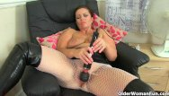 Woman getting clit pierced British milf sam works her clit with a huge vibrator