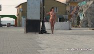 Barefoot nude Nude and barefoot in public