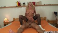 70 swinger - 70 years old granny in stockings riding