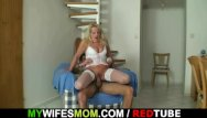 Mature bitches riding cock video - Old blonde bitch rides big cock