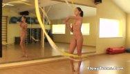 Gymnastics girls nude Cute gymnast girl performs cool escercises