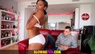 Bebo lick me - Blow me pov - petite ebony babe makes sloppy interracial bj