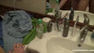 Long homemade porn - Long and passionate doggy session in the bathroom