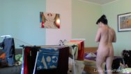 Home sweet home adult day care - Naked milf taking care of her laundry