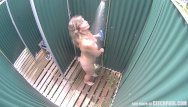 Cought with dick out Czech blonde milf cought in public shower