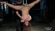 Bondage female rope - Squirting from pain