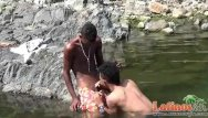 Cruise gay river - Teen gay swimmer playfully going down in the river