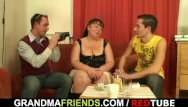Big fat grandma fucking Two guys interview and fuck fat bitch
