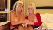 Two girl handjobs - Two grannies jerking you off