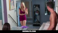 Sarah chalkes tits - Badmilfs - cute teen learns to fuck thanks to mom