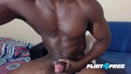 Hunks gay free Athletic hunk edges drains his monster bbc