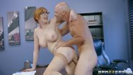 Hairy girl get ass pounded Naughty ginger bimbo gets pounded at work - brazzers