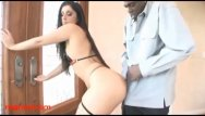 Sex with spanish girl Dirty fat spanish girl fucked big black negro cock in her pussy and her tin