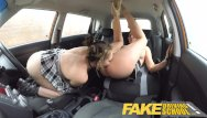Self examination of the vagina Fake driving school daddys girl fails her test with strict mature examiner