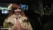 Back seat pussy Jeny smith gets naked on the back seat of taxi