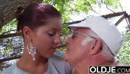 Man dick sucking pic Young girlfriend caught fucked by old man she sucks his dick and swallows