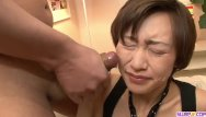 Severe penetration Akina hara sucks on several dicks in a series of sloppy oral scenes