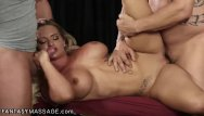 Busty erdec redhead - Fantasymassage busty blonde relieves 2 dicks