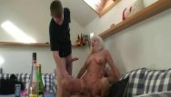 Fuck drunk - Drunk grandma sucks and rides two cocks