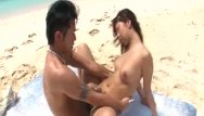 Hairy beach pussy Gorgeous petite japanese teen in public beach