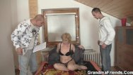Porntube small tit mature - Sharing skinny old lady with small tits