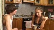 Sperm streams Teen likes a coffee with sperm