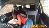 Adult for better or worst - Fake driving school ebony learner with big tits is worst driver yet