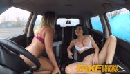 Male sex drive - Fake driving school lesbian sex with hot australian babe and busty milf