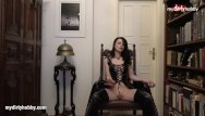 Goth fetish boots My dirty hobby - goth babe with green eyes masturbates