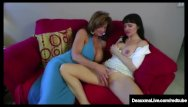 Deauxma milfs lesson - Angie noir makes horny cougar deauxma squirt with a strapon