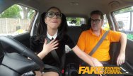 Career change adult learner Fake driving school - sexy spanish learner sucks big cock for lessons