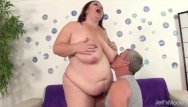 Sexy fat aldies - Big boobed bbw lady lynn takes fat cock