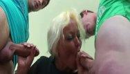 Classroom femdom Granny threesome sex in the classroom