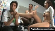 Ass fuck by force - Cuban teacher angelina castro forces roxanne to do foot job