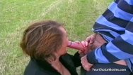 Hardcore amature movies - Older mature couple risky outdoor sex
