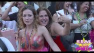 Girl flashing breasts - Wild street party flashing in key west super high quality clip 3