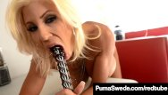 Sex crazed girls pics - Sex crazed euro babe puma swede pounds her pussy in a diner