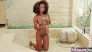 Lion tots teens - Twistys - solo shower fun, with ebony teen cecilia lion