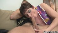 Hairy woman spreading - Hot 60 years old woman in stockings spreads legs
