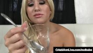 Instructions to eat your own cum Hot latina cristi ann gives you hot cum eating instructions
