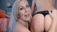 Free ones milf panties - Two blonde lesbian sharing one dildo for pleasure