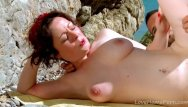 Nice ass porn tubes - Ginger with nice tits get fucked at beach