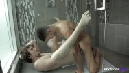 Gay shower movie - High school bros bareback in the shower for nextdoorraw