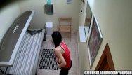 Solarium voyeur part 3 - Voyeur hidden cam in public solarium