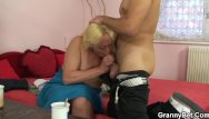 Chubby pussy spread - Blonde spreads her hairy old pussy for him