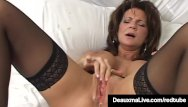 Pornstar milf deauxma interview - Texas cougar deauxma squirts her juice while dildo banging