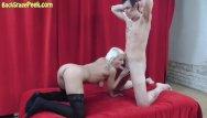 Peeking vaginas Blond bitch naked and horny