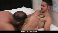 Older fat gay and dick Familydick - young stud taught how to fuck by his scruffy older daddy